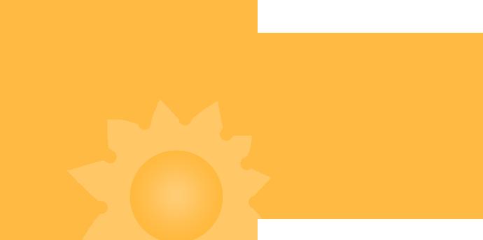 Sun-powered lives.